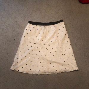 Black & White Floral Ann Taylor Skirt